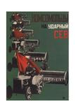 Komsomol Members, to the Shock Sowing Giclee Print by Gustav Klutsis