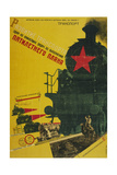 The Development of Transportation, the Five-Year Plan Giclee Print by Gustav Klutsis