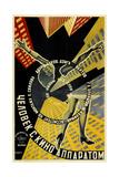"Movie Poster ""Man with a Movie Camera"" Giclée-tryk af Georgi Avgustovich Stenberg"