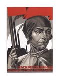 Liberated Woman, Build Up Socialism! Giclee Print by Adolf Iosifovich Strakhov-Braslavsky