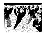 Ice Skaters Giclee-trykk av Felix Edouard Vallotton