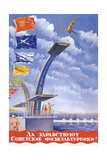 Long Live the Soviet Athletes! Giclee Print by V.G. Khrapovitsky
