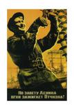 Implementing Lenin's Will, We Turn on the Light All over the Native Land! Giclee-trykk av Yuri Vladimirovich Kershin