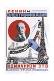Lenin and Electrification Giclee-trykk