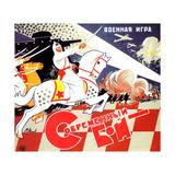 """Cover Design for Children's Game """"Modern Battle"""" Giclee Print"""