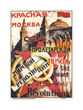 Red Moscow Heart of World Revolution Giclee Print