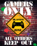 Gamers Only Controller Keep Out Plakater