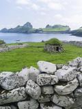 St Kilda Islands, Scotland. Island of Hirta, Traditional Cleit Stampa fotografica di Martin Zwick