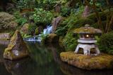 Lit Pagoda, Portland Japanese Garden, Portland, Oregon, USA, Pr Photographic Print by Michel Hersen