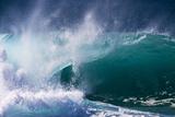 Hawaii, Oahu, Large Waves Along the Pipeline Beach Fotografisk trykk av Terry Eggers