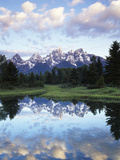 Wyoming, Grand Teton National Park, Rocky Mts, the Grand Tetons and Snake River Fotografisk trykk av Christopher Talbot Frank