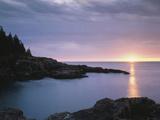 Maine, Acadia National Park, Sunrise over the Atlantic Ocean Fotografisk trykk av Christopher Talbot Frank