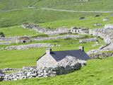 Scotland, St Kilda Islands, Hirta Island, Abandoned Settlement Photographic Print by Martin Zwick