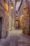Evening Light Along a Back Alley of Assisi Photographic Print by Terry Eggers