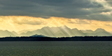 Chiemsee, Germany, Sunrays Through Clouds after Storm Photographic Print by Sheila Haddad