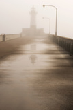 Minnesota, Duluth, Canal Park, Ship Canal in Fog Photographic Print by Peter Hawkins