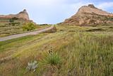 Oregon Trail Leaves Nebraska Passes Scotts Bluff Towards Mitchell Pass Reproduction photographique par Richard Wright