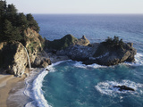 California, Big Sur Coast, Julia Pfeiffer Burns Sp, Mcway Falls Fotografisk trykk av Christopher Talbot Frank