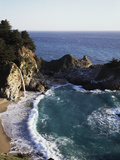 California, Big Sur Coast, Julia Pfeiffer Burns Sp, Mcway Falls Fotografisk trykk av Christopher Talbot Frank