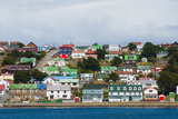 Falkland Islands. Stanley. View from the Water Photographic Print by Inger Hogstrom