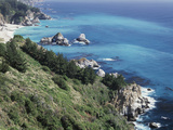 California, Big Sur Coast, the Central Coast Along the Pacific Ocean Fotografisk trykk av Christopher Talbot Frank