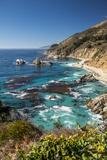 Vertical Big Sur Coastline California Photographic Print by Sheila Haddad