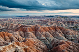 Sunset over Badlands National Park, Sd Reproduction photographique par James White