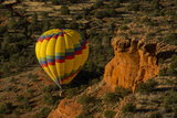 Hot Air Balloon, Red Rock, Coconino Nf, Sedona, Arizona, USA Photographic Print by Michel Hersen