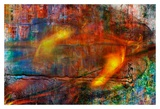 Colorful Fire Abstract Poster by Jean-François Dupuis
