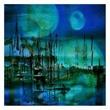 Blue and Turquoise Rust Poster von Jean-François Dupuis
