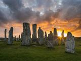 Standing Stones of Callanish, Isle of Lewis, Western Isles, Scotland Fotografisk trykk av Martin Zwick