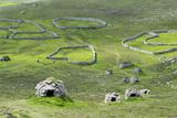 Scotland, St Kilda Archipelago, Hirta Island, Abandoned Settlement Photographic Print by Martin Zwick