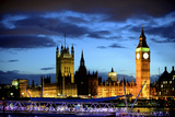 Big Ben and the Houses of Parliament, Thames River, London, England Reproduction photographique par Richard Wright