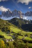 Val Di Funes, Santa Maddalena and Geisler Spitzen, Dolomites, Italy Fotografisk trykk av Brian Jannsen