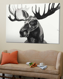 Watercolor Moose Poster par Ben Gordon
