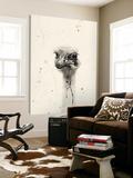 Watercolor Ostrich 2 Kunst van Ben Gordon
