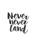 Never Never Land Pôsters por Brett Wilson