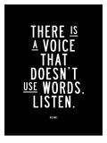 There is a Voice That Doesnt Use Words Poster di Brett Wilson