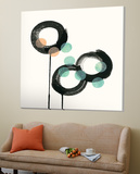 Zen Circles D Poster av Natasha Marie