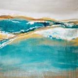 Aqua Quartz Kunstdruck von Liz Jardine