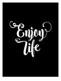 Enjoy Life BLK Láminas por Brett Wilson