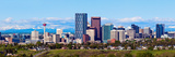 Panorama of Calgary and Rocky Mountains Reproduction photographique par  benkrut