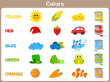 Learning the Object Colors for Kids Prints by  aekikuis
