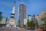 Monument Circle, Indianapolis, Indiana. Fotografisk trykk av  rudi1976