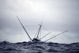 Salmon Troller Fishes in Stormy Seas During Summer in the Gulf of Alaska Premium fotografisk trykk av  Design Pics Inc