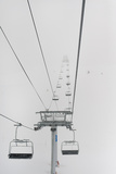 A Chairlift at a Ski Resort; Whistler British Columbia Canada Reproduction photographique par  Design Pics Inc