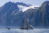 Commercial Fishing Boat *Malamute Kid* Seining for Silver Salmon Port Valdez Prince William Sound Fotoprint van  Design Pics Inc