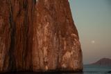 Moonrise Above Sleeping Lion Rock Off San Cristobal in the Galapagos Photographic Print by Karen Kasmauski
