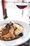 A Salmon Dish Served at the Bella Italia Restaurant in Port Angeles Fotoprint van Michael Hanson