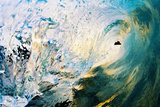 Hawaii, Maui, Makena, Beautiful Blue Wave Breaking at the Beach Reproduction photographique par  Design Pics Inc